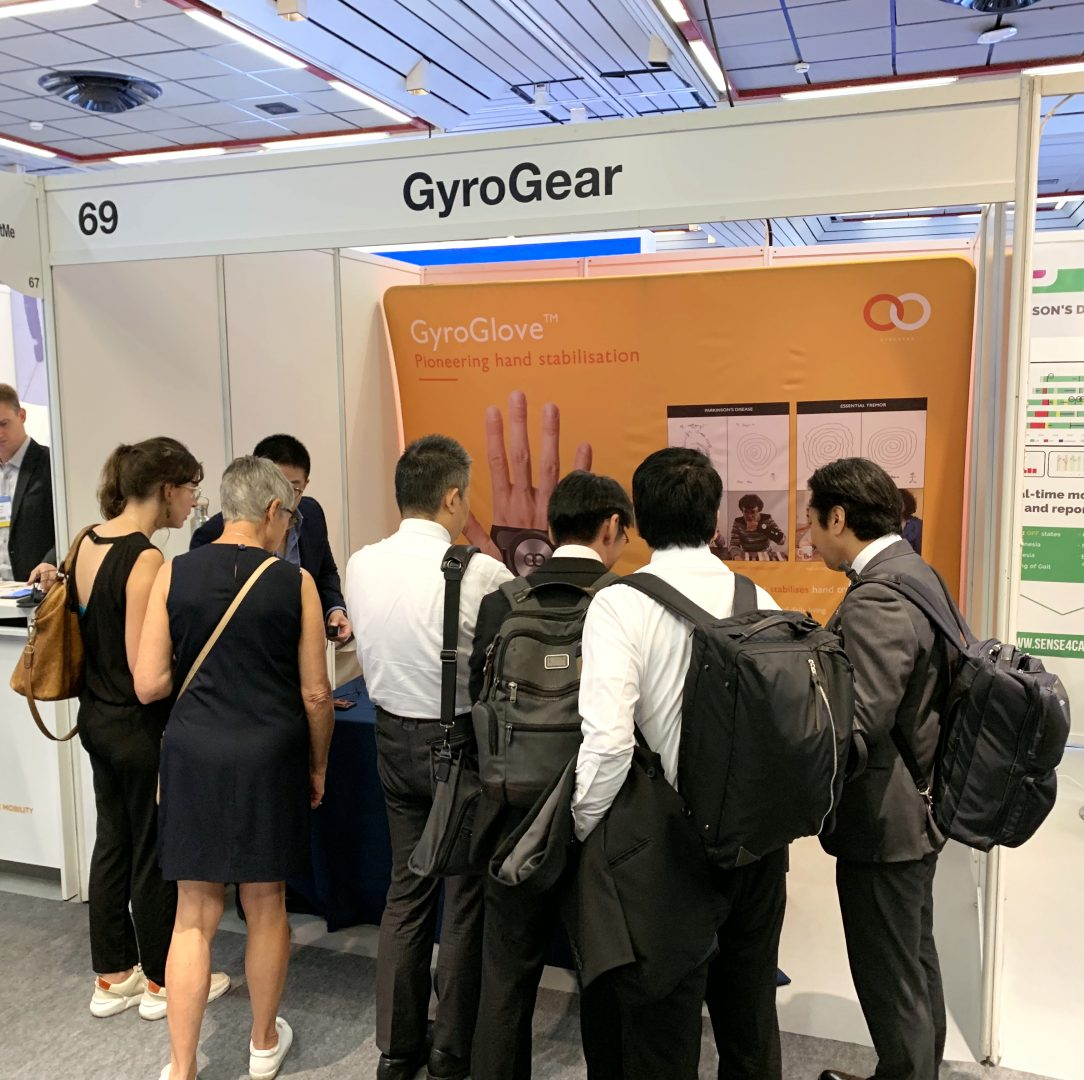 1 1 1084x1080 - GyroGlove showcased at the International Congress of  Parkinson's Disease & Movement Disorders in Nice, France.