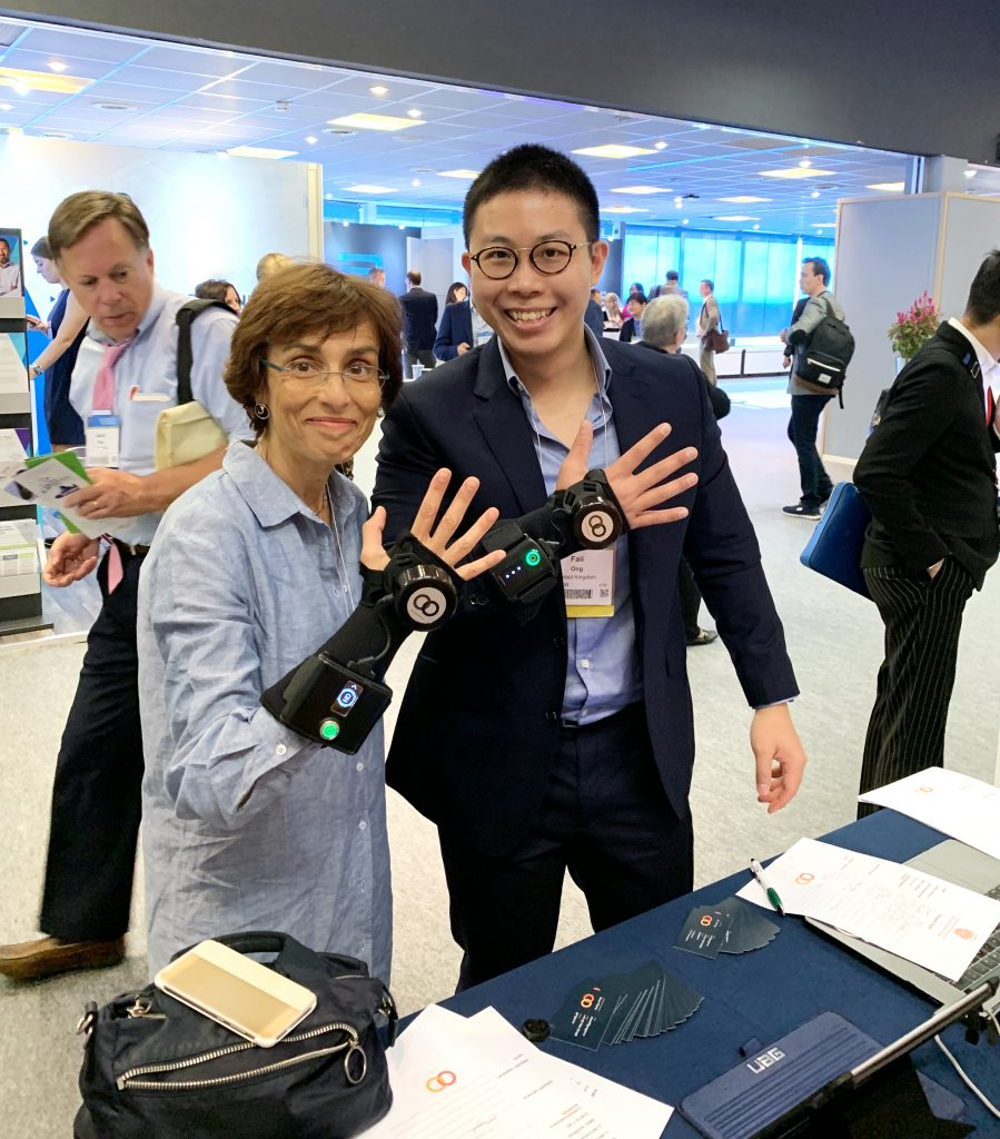 IMG E3777 1 899x1024 - GyroGlove showcased at the International Congress of  Parkinson's Disease & Movement Disorders in Nice, France.