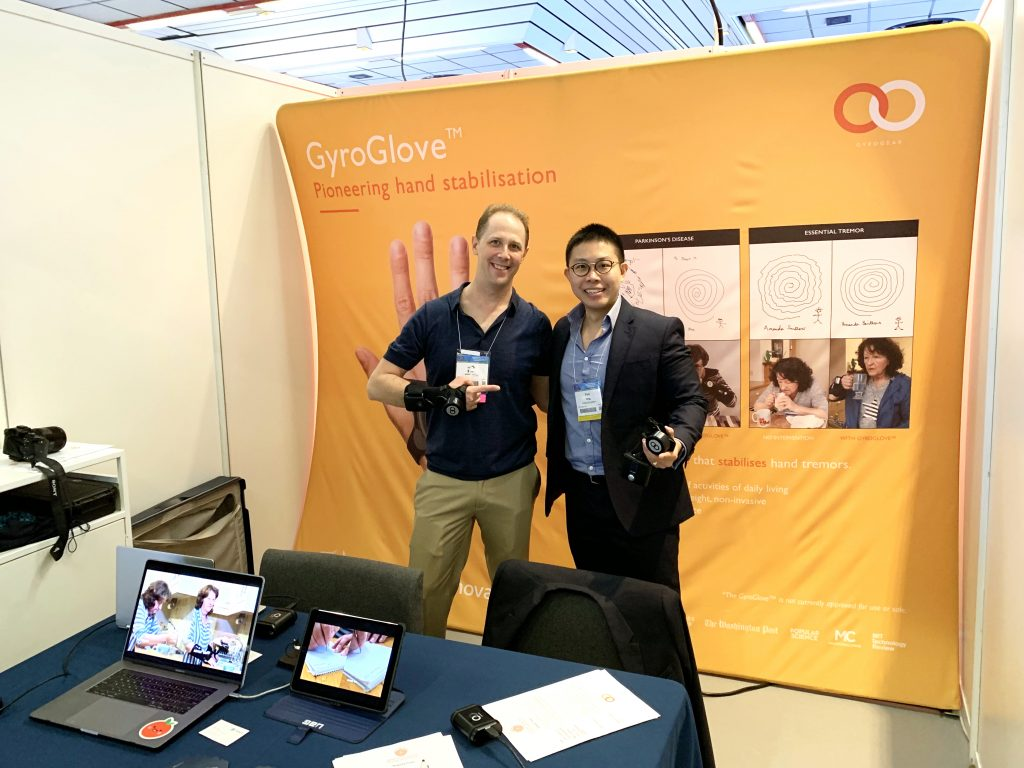 IMG E3780 1 1024x768 - GyroGlove showcased at the International Congress of  Parkinson's Disease & Movement Disorders in Nice, France.