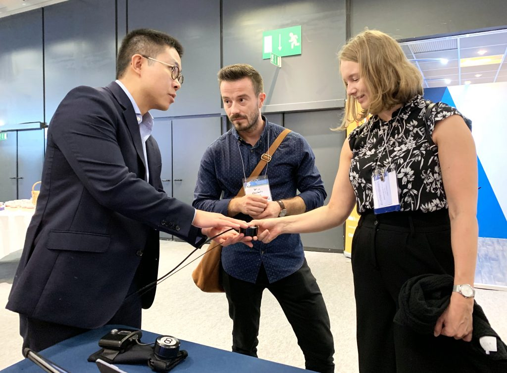 IMG E3815 1 1024x755 - GyroGlove showcased at the International Congress of  Parkinson's Disease & Movement Disorders in Nice, France.