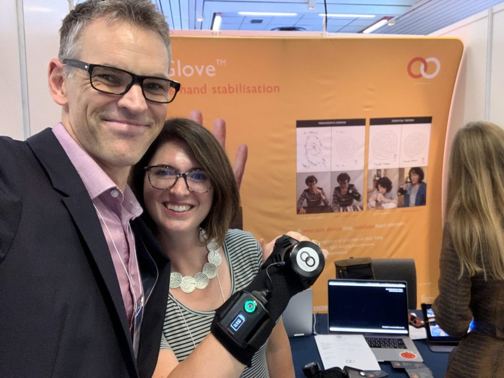IMG E3819 1024x768 - GyroGlove showcased at the International Congress of  Parkinson's Disease & Movement Disorders in Nice, France.