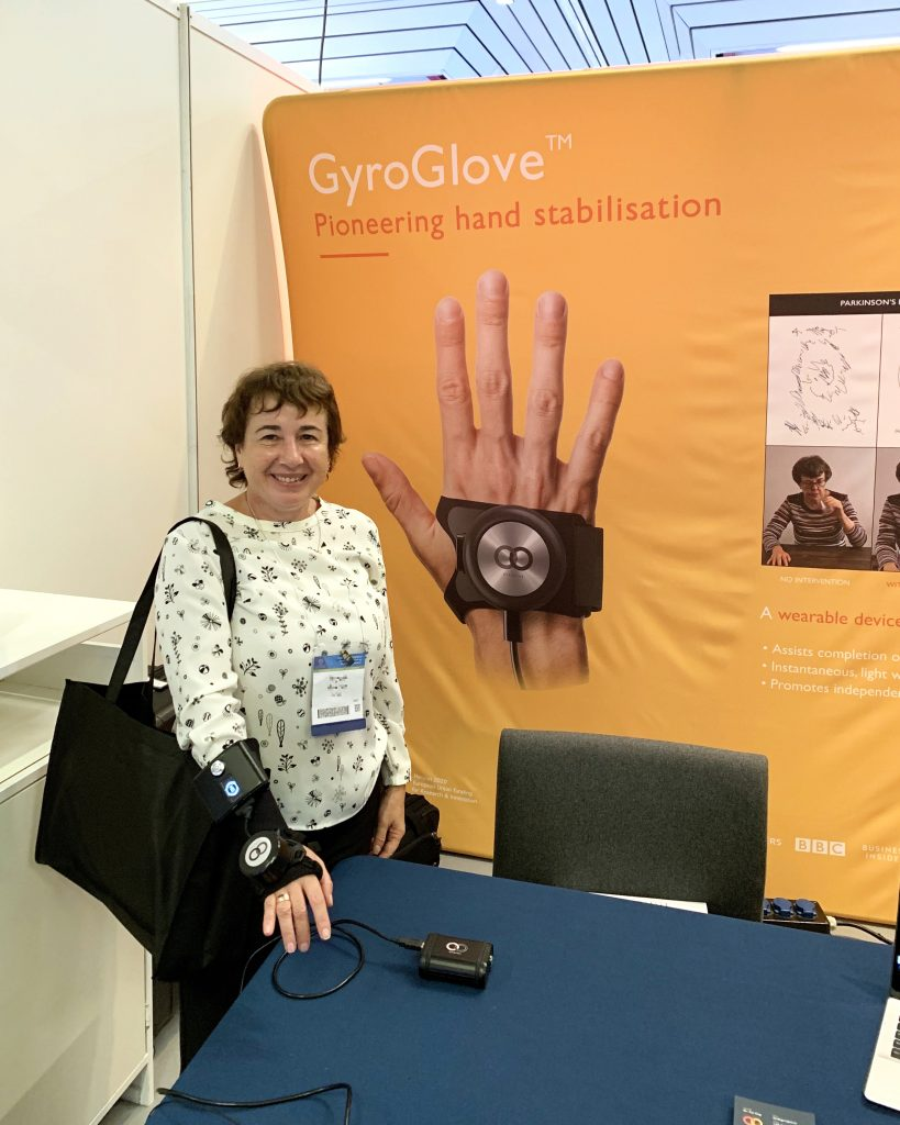 IMG E3884 1 819x1024 - GyroGlove showcased at the International Congress of  Parkinson's Disease & Movement Disorders in Nice, France.